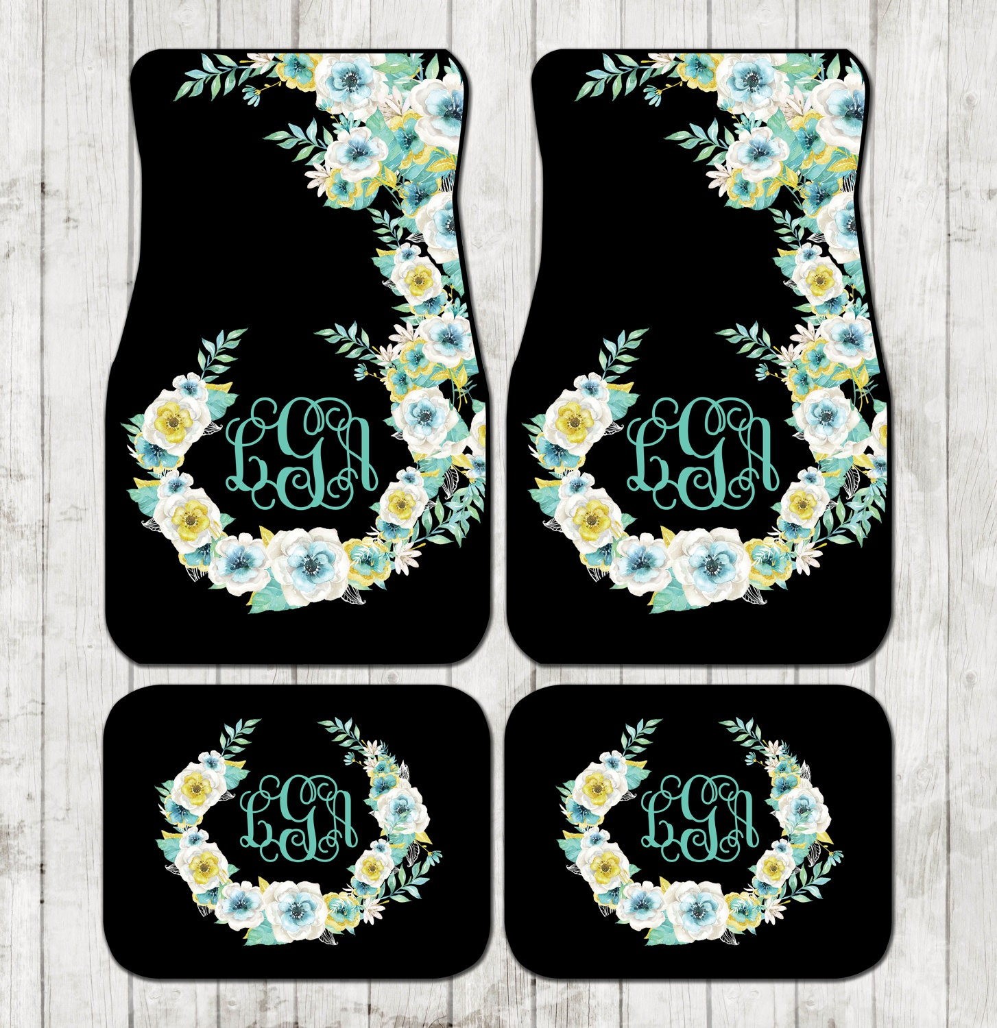 set car wheel chicmonogram license seat belt coasters floor mats covers monogrammed monogram steering by and pomegranate on pin accessories plate frame cover