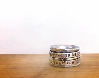 Spinner Ring, Meditation Ring, Worry Ring, Fidget Ring, Spinning Ring, Silver Spinning Ring, Anxiety Ring, Meditation Rings, Fidget Jewelry