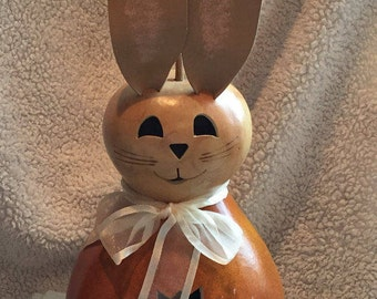 Easter Bunny Gourd, Spring Rabbit, Electric Light