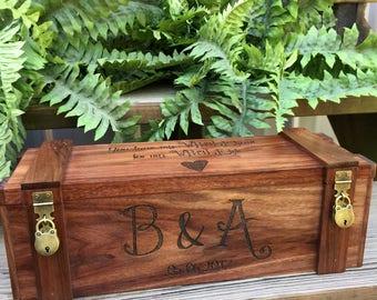 Wedding Wine Box, Custom Wine Box, Personalized Wine Box, Love Letter Ceremony Box, Rustic Wine Box, Anniversary Wine Box, Bride and Groom