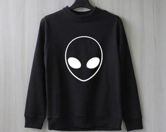 Alien Sweatshirt Sweater Jumper Pullover Shirt – Size XS S M L XL