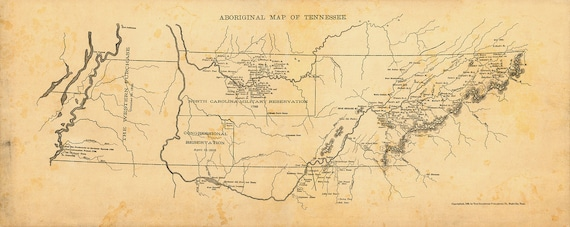 Tennessee map Map of Tennessee 1886 Restoration Hardware Map Old Style Map Wall Map Vintage map of Tennessee House warming Gift Office Decor