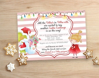 Grinchy Cookie Exchange - Cookie Party - Invitations