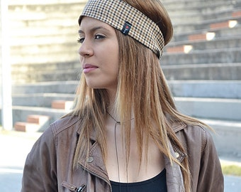 Wool Headband, Plaid Headband, Elegant Headband, Hair Accessories, Womens Turbans, Womens Turban, Womens Headbands, Vintage Headband, Gifts