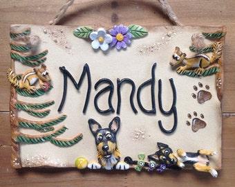 Dog Kennel Sign - custom plaque design, ceramic