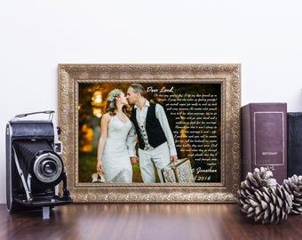 Anniversary gift print, custom paper print, anniversary print,  wedding anniversary, wedding photo print, anniversary canvas, wedding gift