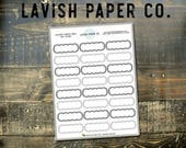 Outlined Gray Scalloped Quarter Box Planner Stickers  by Lavish Paper Co. Eco-friendly planner stickers made for use in all planners!