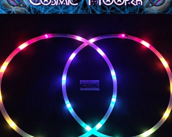 "5/8"" Polypro Mini LED Hoops - Rainborion's Belt 12 different colors! 12 LEDs in each mini hoop"