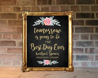 BEST DAY EVER Poster | Chalkboard Background | Personalized | Date Can Be Added | Various Sized | I Create and You Print