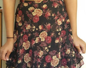 SALE 90's Floral Express Skirt