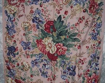 Designer RALPH LAUREN Luxurious Silk Floral Pattern SCARF