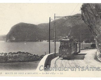 Vintage Postcard - Route De Nice A Monocao - La Baie d'Eze - L.L.