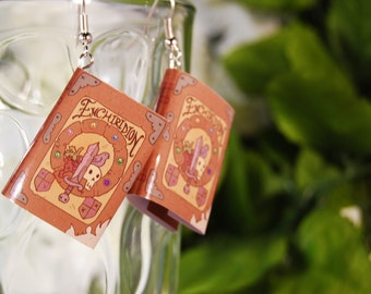 Enchiridion Book Earrings