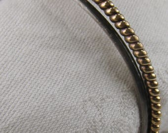 Sterling and 12K GF Three Strand Cuff Bracelet