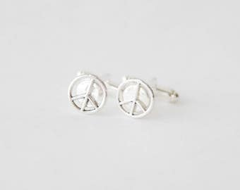 Peace Cufflinks, Peace Sign Cufflinks, Peace Accessories, Peace Sign JEwelry, Gifts for Men, Husband Gifts, Men's Accessories, Gifts for him