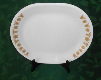 Corelle Butterfly Gold Oval Serving Platter