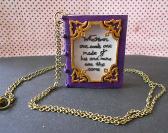 """Necklace Book """"Wuthering heights"""" Emily Brontë"""