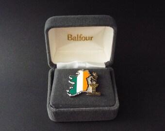 1996 Atlanta Olympics Pin Sterling Silver Ireland Map Flag Balfour 0241/5000
