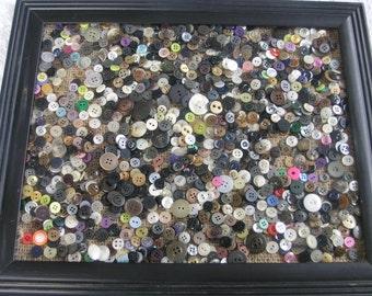 13 Ounce Bag of Misc. Buttons Light Dark Big Small 2 Hole 4 Hole Button Lot...B-lot #3