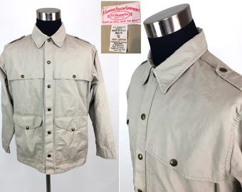 Vintage 70s FILSON Tan Canvas Hunting / Field Jacket 44 LARGE // Work // Chore // Workwear // Outdoors // Barn // 1970s // L // Gift