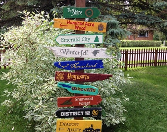 20 Pack Wooden Directional Signs  - Choose any 20 signs listed in our shop