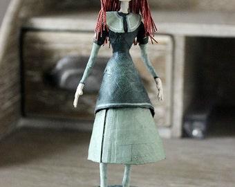 Lady in the green dress OOAK DOLL KriSoft