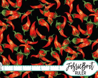 RED CHILI PEPPERS Fabric by the Yard, Fat Quarter Kitchen Fabric Hot Pepper Fabric 100% Cotton Fabric Quilting Fabric Apparel Fabric t4-2