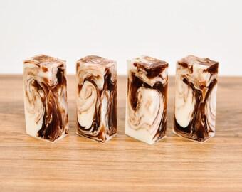2 oz Food Soap Cinnamon Soap Vanilla Soap- Brown Soap- Desert Soap- Homemade Soap- Travel Soap- Guest Soap- Soap Bar- Small Soap