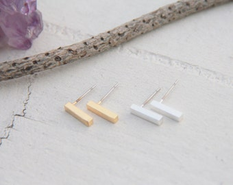Gold Bar Earrings, Tiny Bar earrings, Bar Earrings ,Gold Bar Earrings, Minimalist Gold Jewelry, Bridesmaid Gift, Simple Modern Jewelry