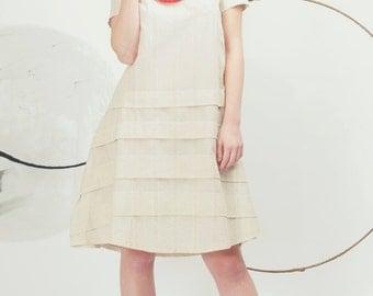 Art 58/17 -50%OFF Abito Emily . Sartorial, Made in Italy, Atelier, Summer, Ruffle dress, Short sleeves.