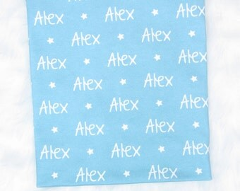 Baby Blanket with Name // Personalized Baby Blanket Boy Baby Blankets Personalized Baby Blanket Personalized Swaddle Blanket Baby- Star