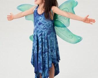 fairy dress blue fairy dress girls gift organic cotton dress