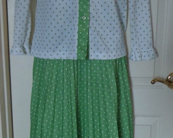 Vintage Devonette Maxi Skirt and Blouse, 70's Matching Maxi Skirt and Blouse, Vintage Skirt Suit