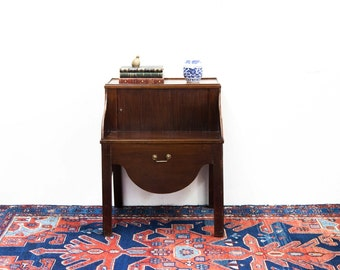 Mahogany Tambour Side Table