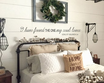 I Have Found The One Whom My Soul Loves, Wall Decal, Song Of Solomon