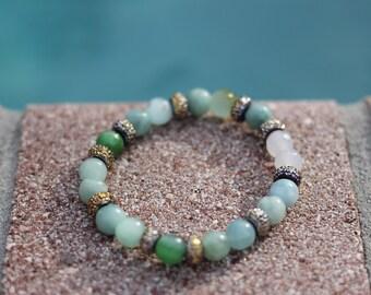 Green Beaded Bracelet