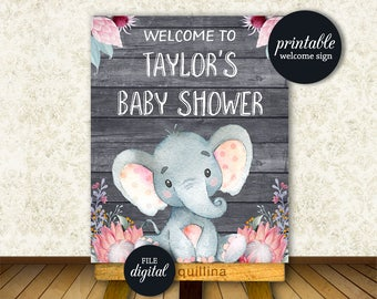 Elephant Baby Shower | Etsy