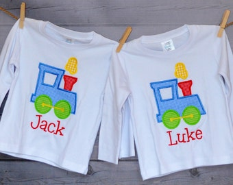 Personalized Choo Choo Train  Applique Shirt or Onesie Girl