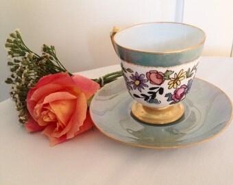 Pretty Little Bavarian Teacup and Saucer
