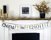 Happy New Years 2017 / New Years Party Decoration / Happy New Year 2017 / Stroke of Midnight Garland / New Years Banner / Cheers to 2017