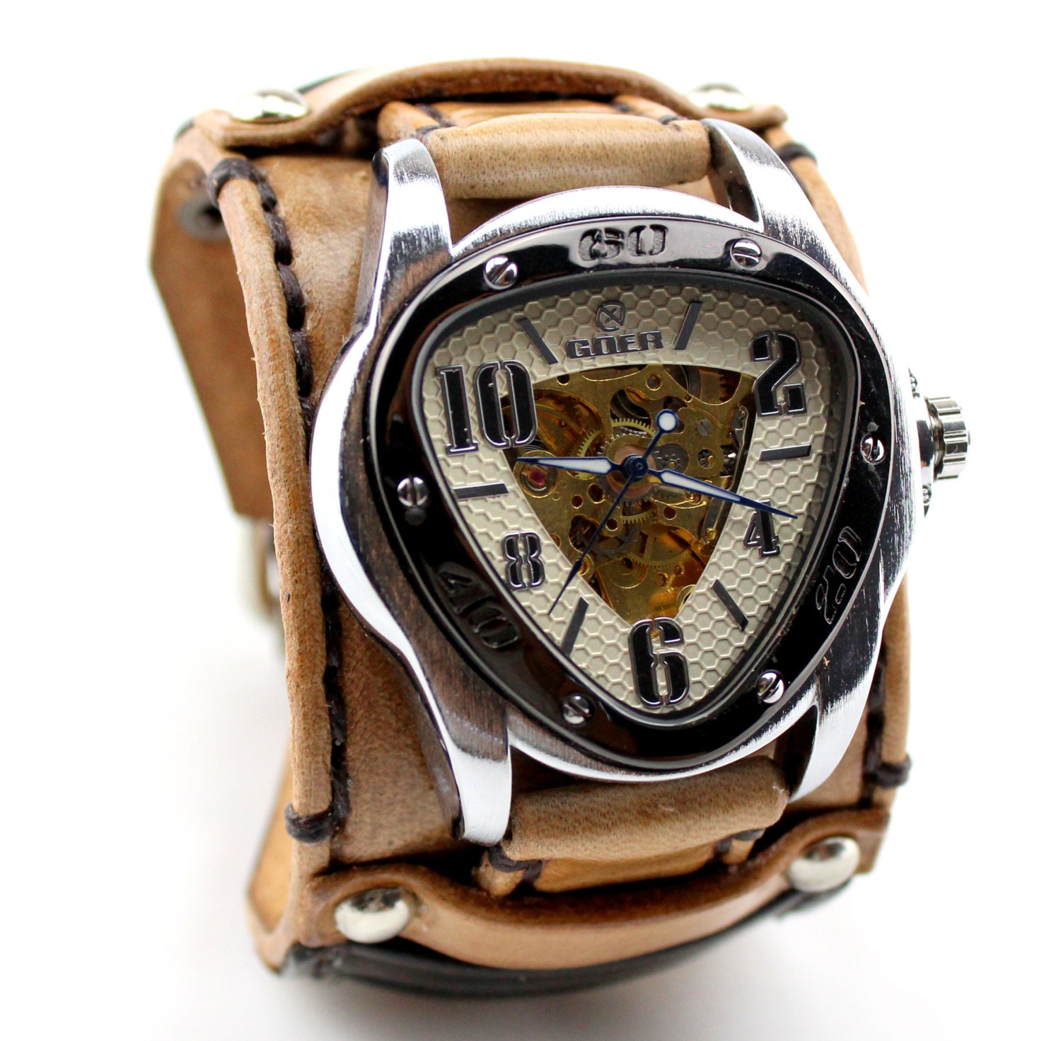 Personalized Mens Wrist Watch Gifts for Men Brown Leather |Wrist Watch For Men Leather