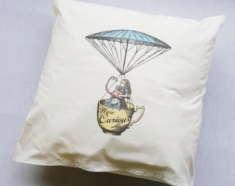 Alice in Wonderland Cushion SALE How Curious Disney Decorative Pillow Cover Home Decor