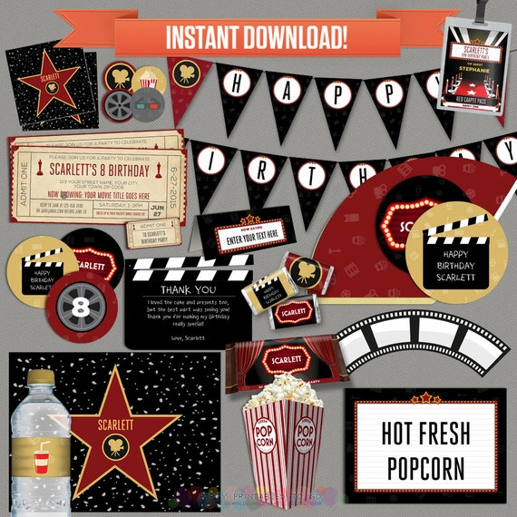 Movie Party Decorations amp Ticket Invitation