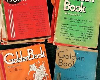 GOLDEN BOOK MAGAZINE from 1932 - 1935