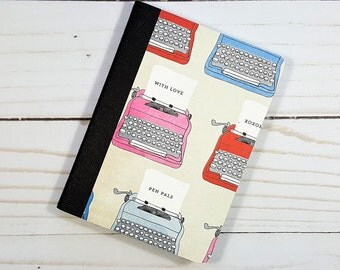 Mini Notebook, Typewritter Notebook, Diary, Writing Journal, Small Notepad, Journal, Altered Composition Book, Pocket Notebook