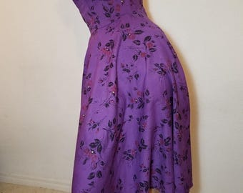 FREE  SHIPPING  1950 Strapless Full Circle Dress