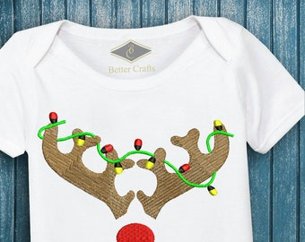 50% OFF | Rudolph the Red Nosed Reindeer | Machine Embroidery Applique Design 4 Sizes