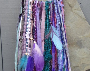 Bohemian Dreamcatcher, Woodland, Fairy collection, Fantasy, Whimsical, Nature, Enchanted forest, Butterfly, Boho, Purple, Pink, Mossy, Large