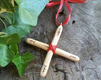Oak Cross Protection Amulet - Protection Charm - Amulet - Protection - Oak Cross