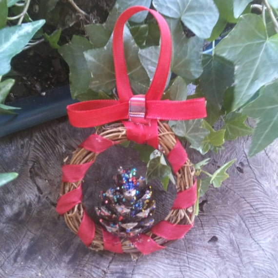 Pagan Yule Ornaments, Small Wreath Decoration, Yule Ornaments, Ornament Wreath, Pagan, Yule, Decorations, Ornaments, Pagan Yule Gifts